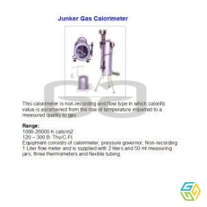JUNKERS GAS COLORIMETER