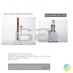 PYCHNOMETER with Thermometer with Stop