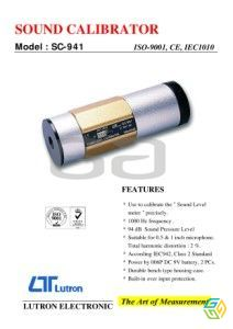 SOUND CALIBRATOR SC 941