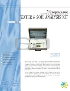WATER SOIL TEST KIT 1160