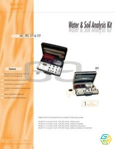 WATER SOIL TEST KIT 161,191,171,172