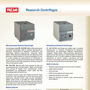 Research_Centrifuges R 23 PR 23 R 24 PR 24