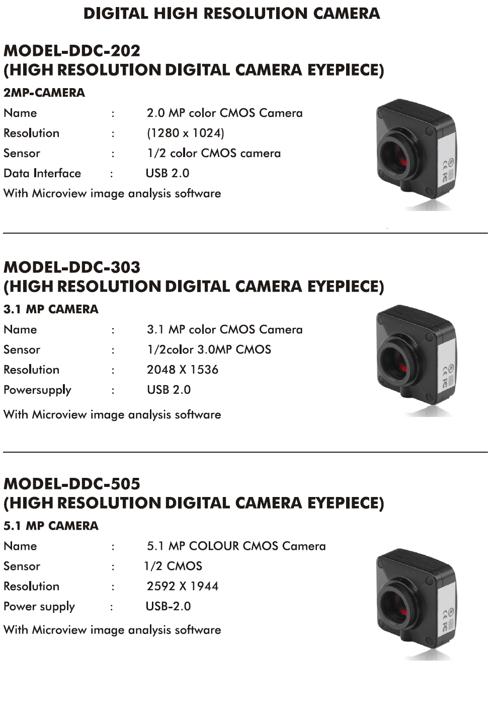 5 and 3.1 MP Camera DV PLUS